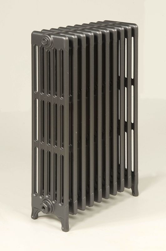 750mm high Ideal 10 section 6 column in anthracite
